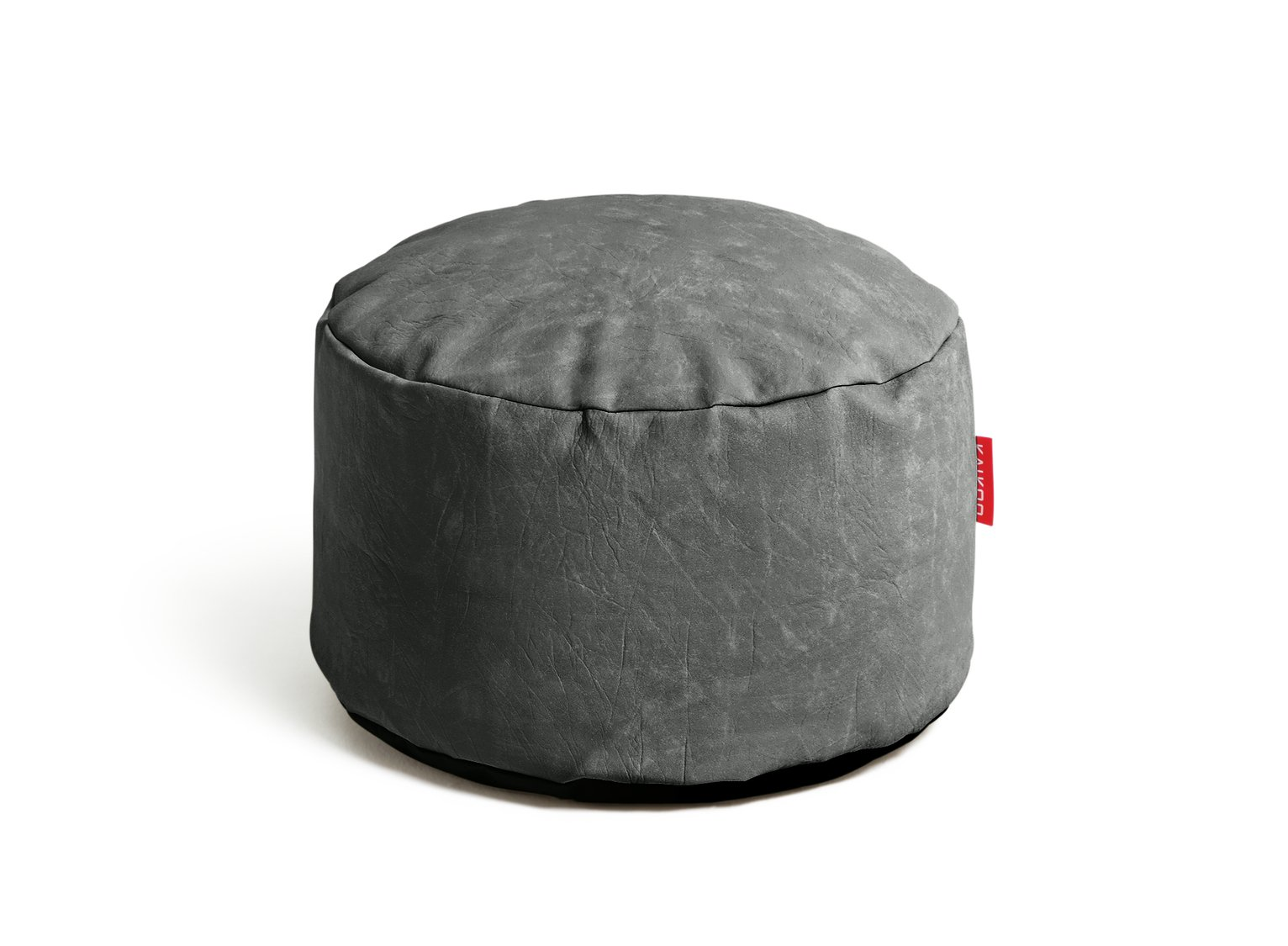 HOME Leather Effect Footstool - Grey