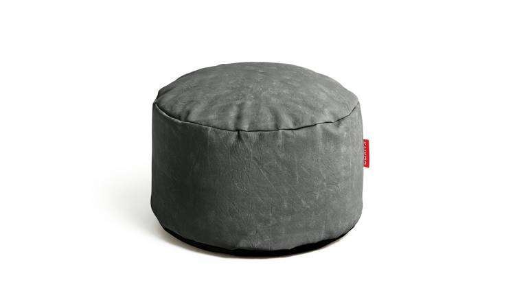 Argos Home Faux Leather Footstool - Grey
