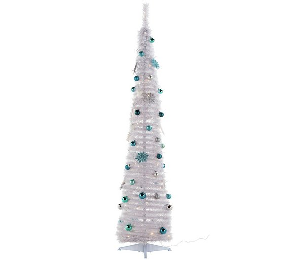 argos home 6ft pop up christmas tree white