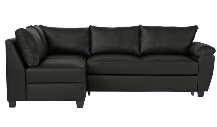 Argos Home Fernando Left Corner Sofa Bed - Black