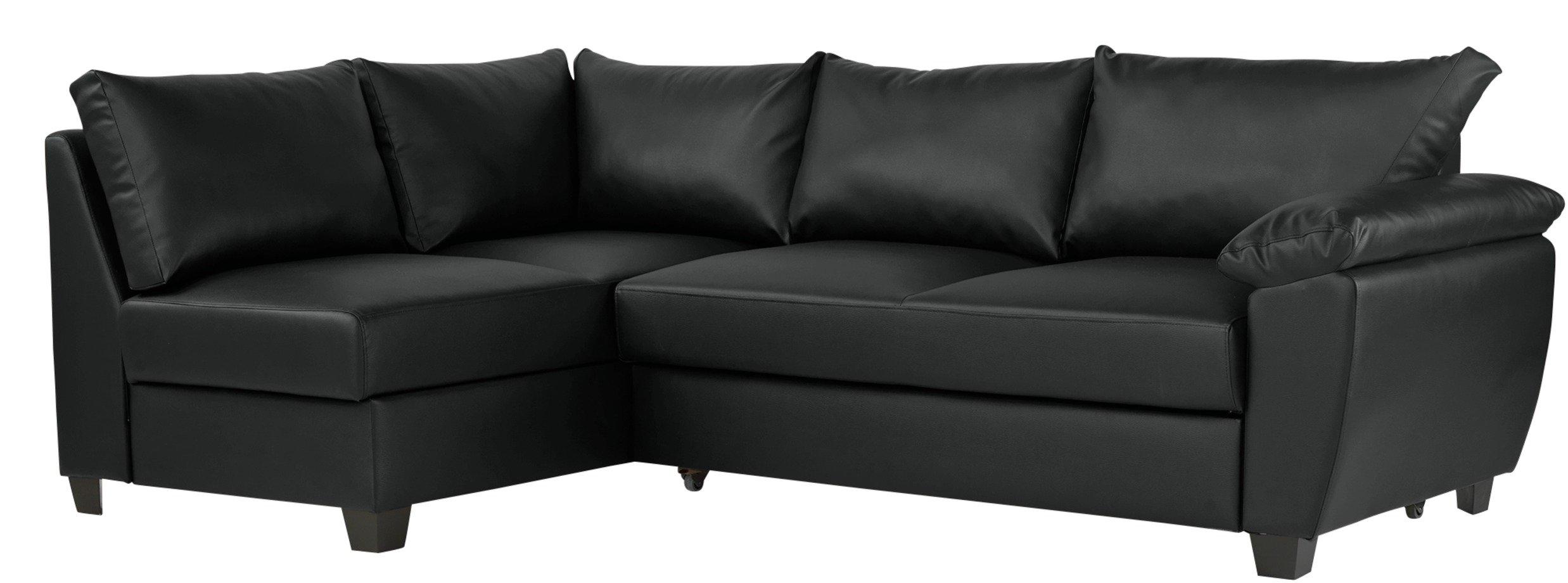Argos Home Fernando Left Corner Sofa Bed - Black
