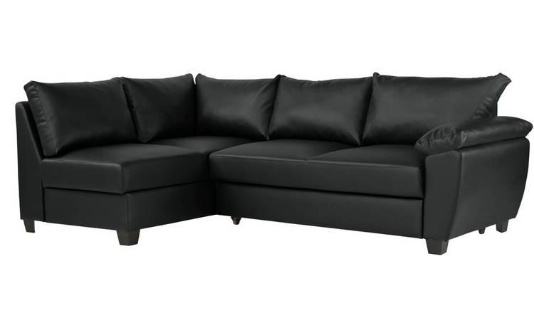 Buy Argos Home Fernando Left Corner Sofa Bed - Black | Sofa beds | Argos