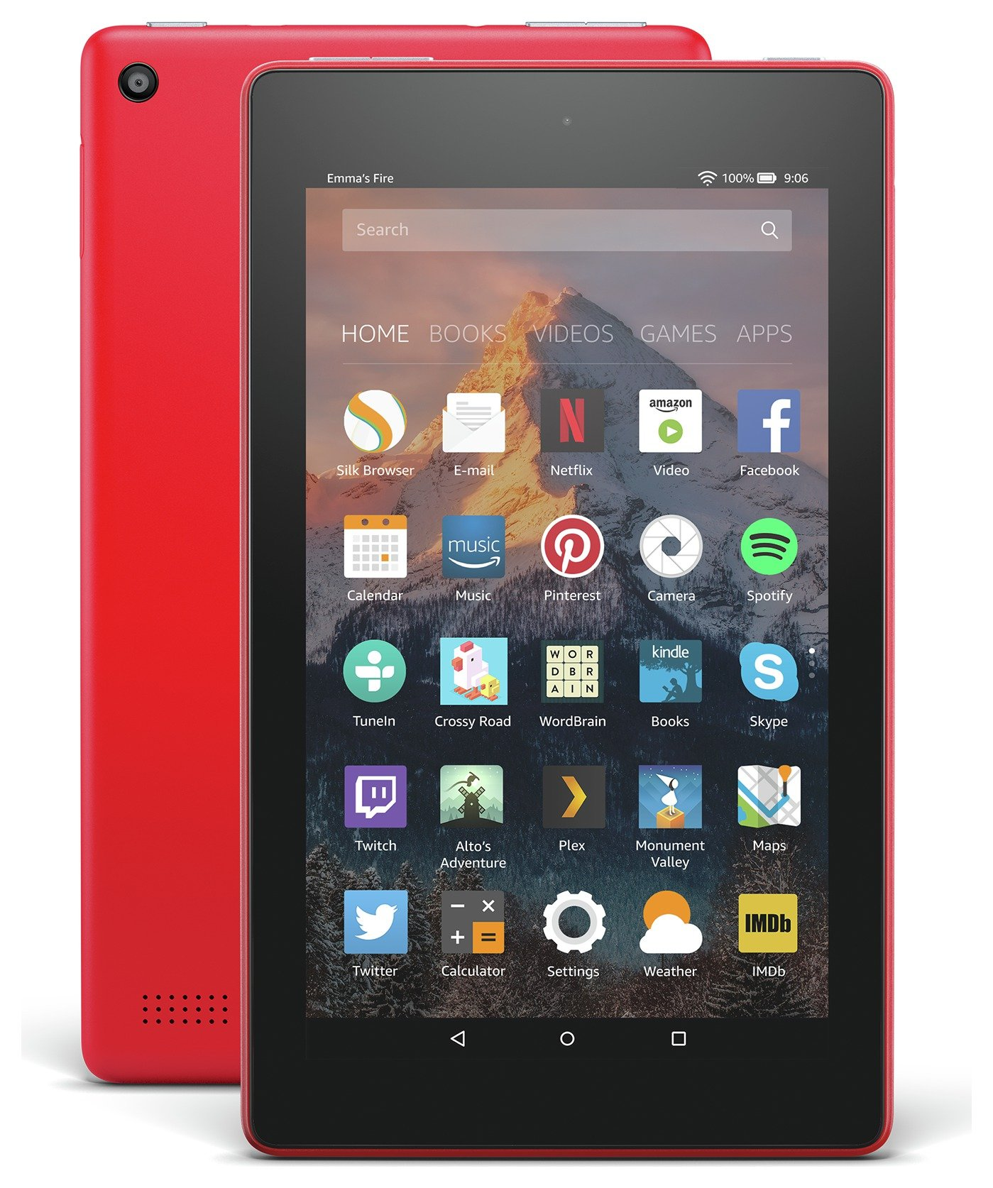 Compare retail prices of Amazon Fire 7 Alexa 7 Inch 16GB Tablet Punch Red to get the best deal online