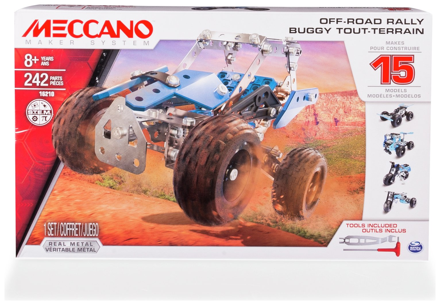 Image of Meccano 15-in-1 Model Motorcycles Set