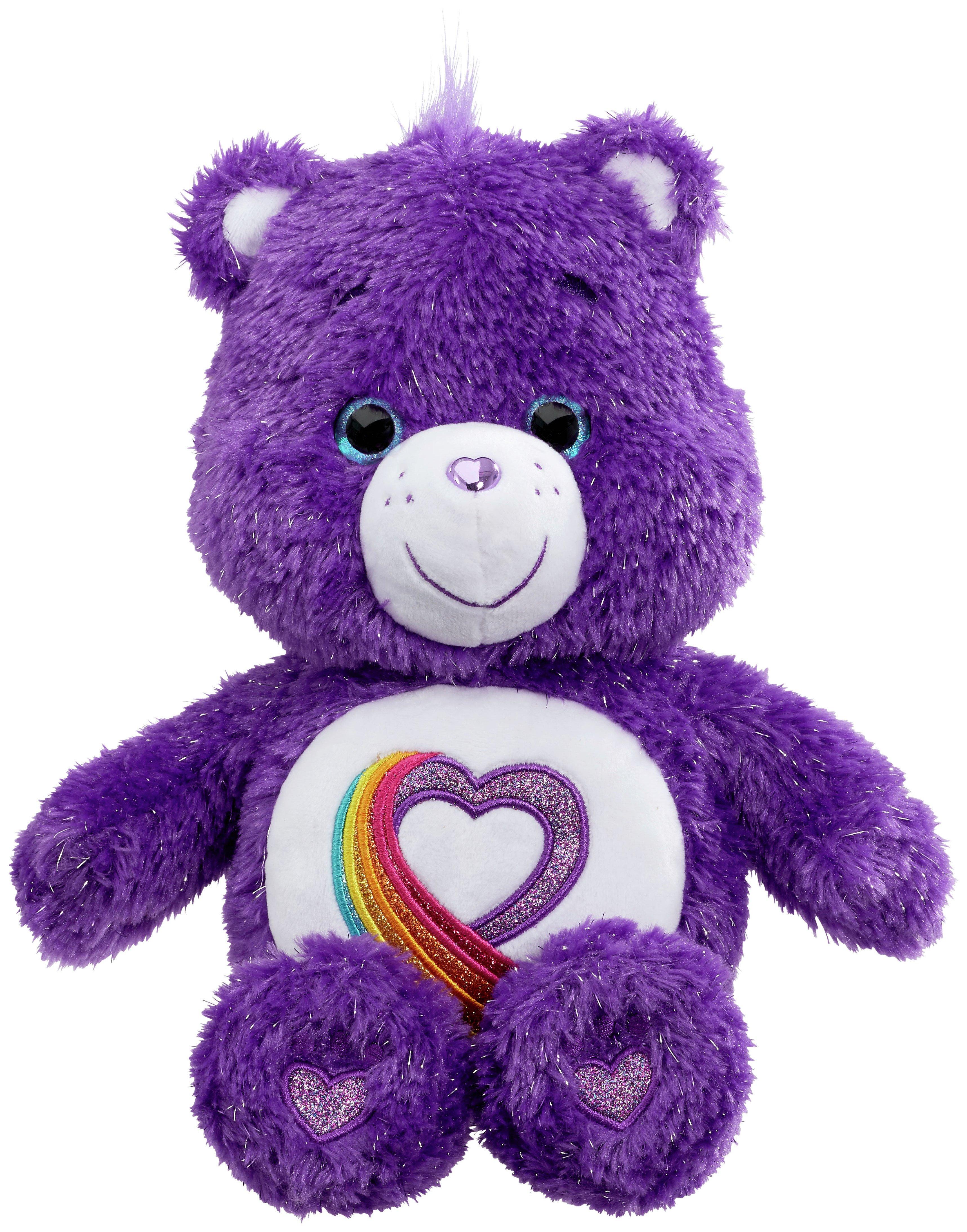 Image of Care Bears Rainbow Heart 35th Anniversary Bear.