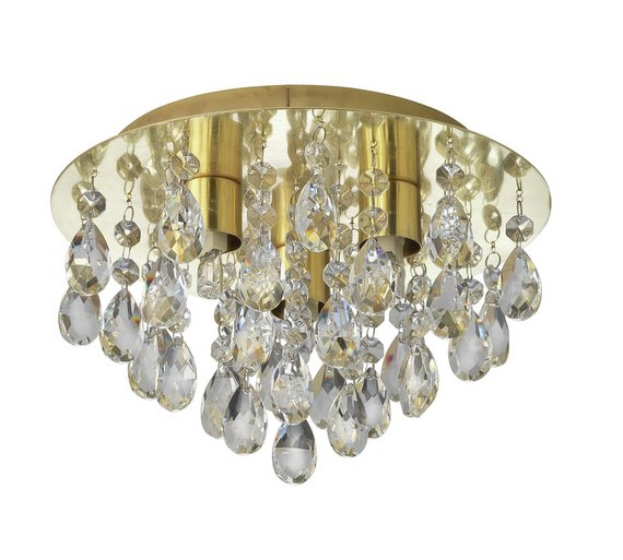 Buy collection ivy glass drop ceiling light brass at argos collection ivy glass drop ceiling light brass mozeypictures Gallery
