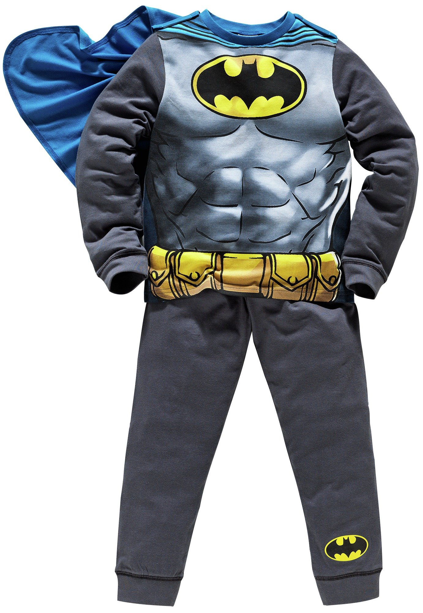 Image of Batman Novelty Pyjamas with Cape - 5-6 Years