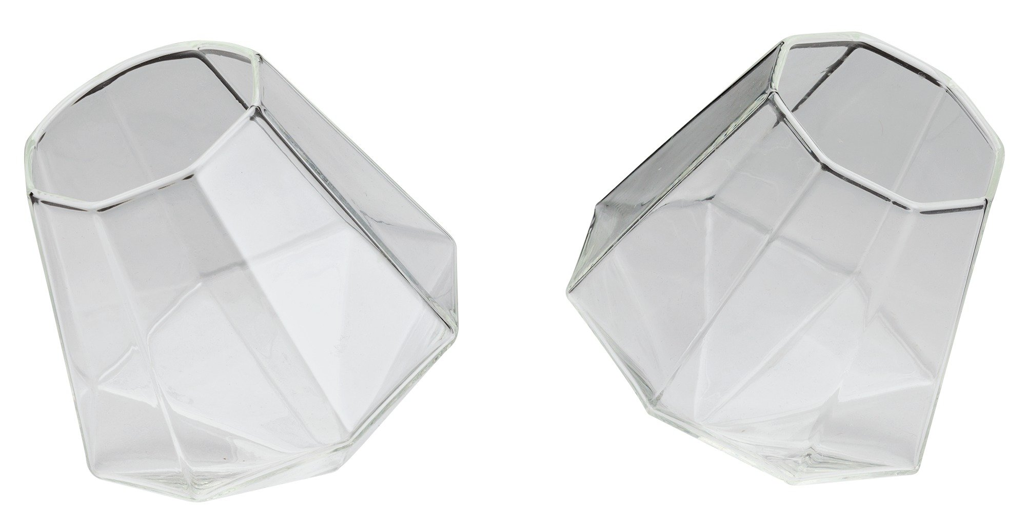 Image of Diamond Whiskey Glasses - Set of 2