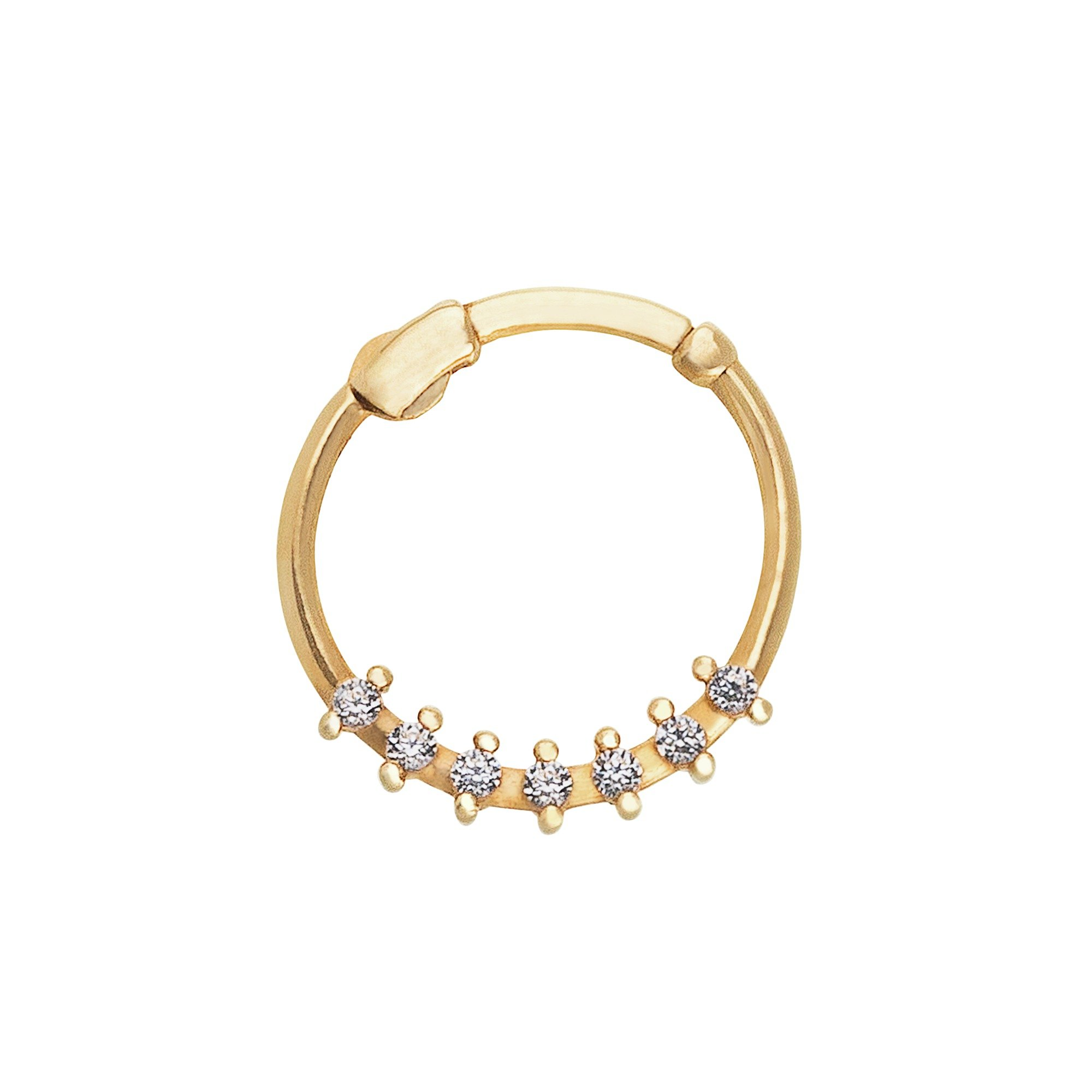 Buy State of Mine 9ct Gold Cubic Zirconia Nose Hoop at Argos