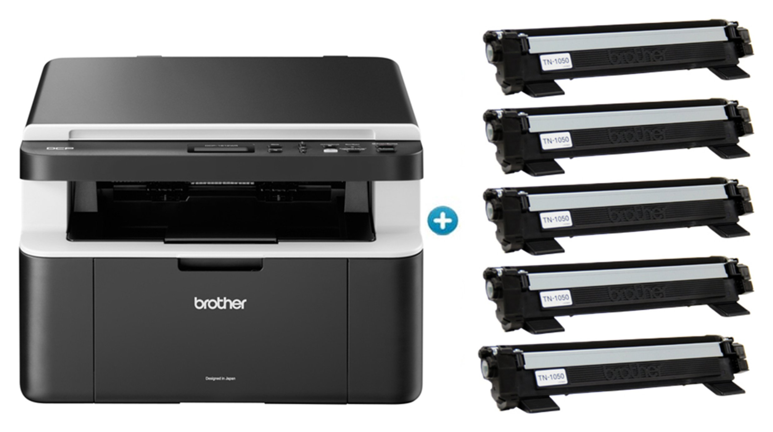 Image of Brother DCP-1612WVB Wireless All-in-one Mono Laser Printer.
