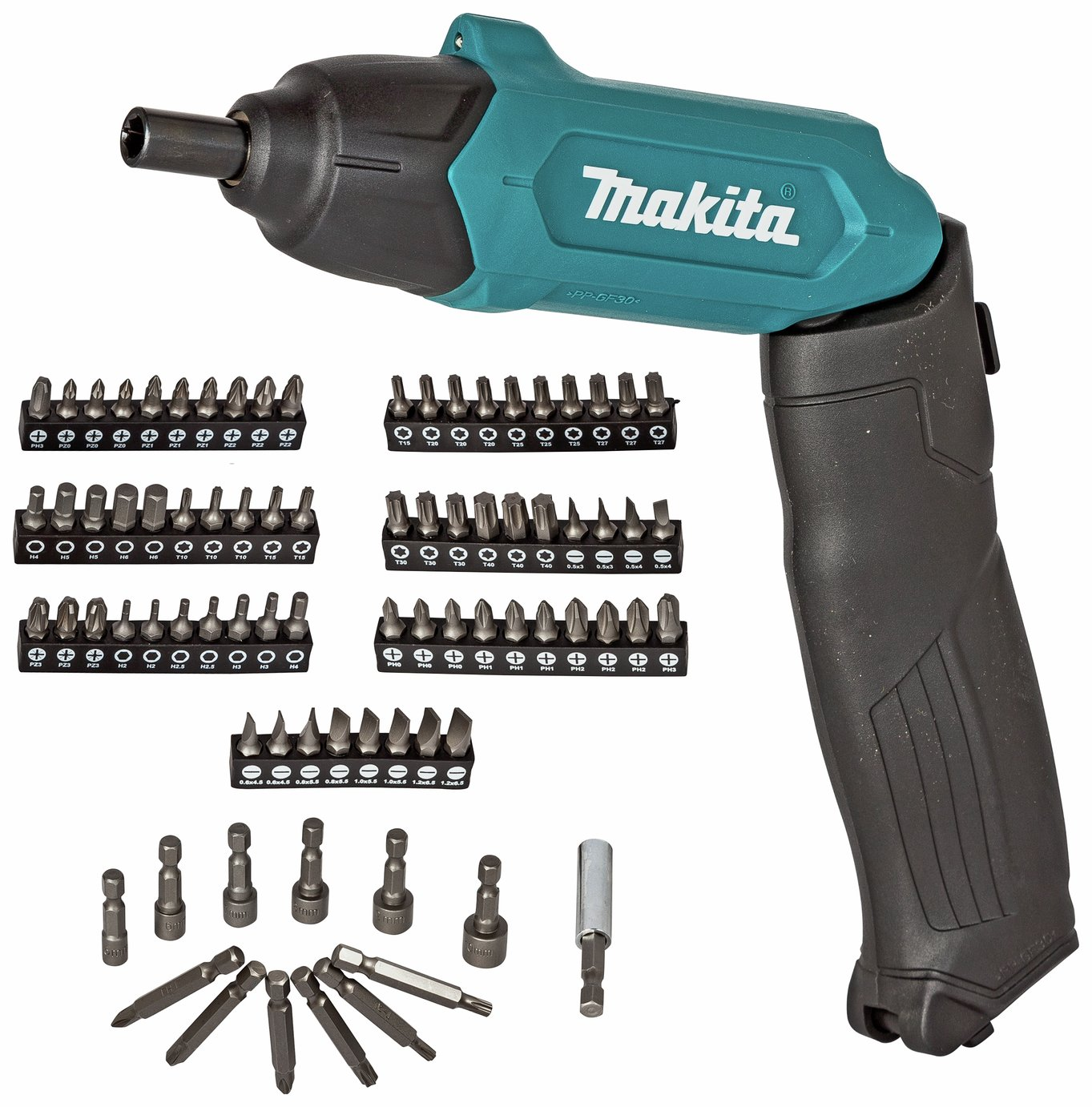 Image of Makita 3.6V Li-ion Cordless Screwdriver with 81 Accessories