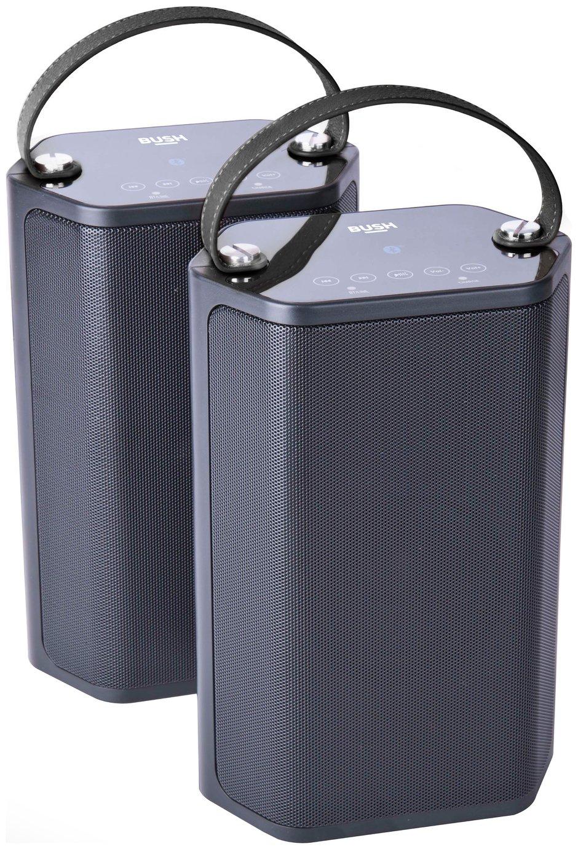 Bush Wireless Dual Speakers - Black