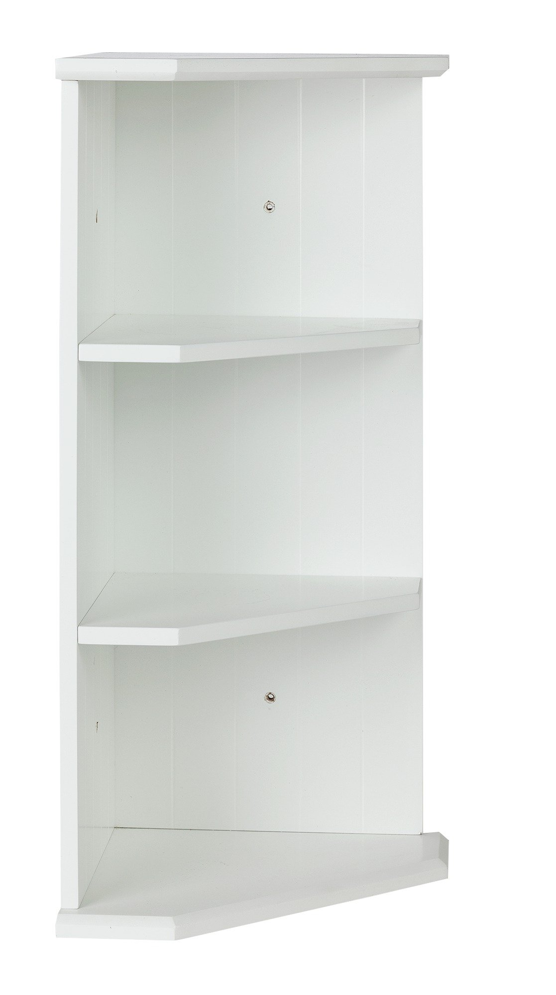 Argos Home Tongue And Groove Bathroom Corner Shelf White