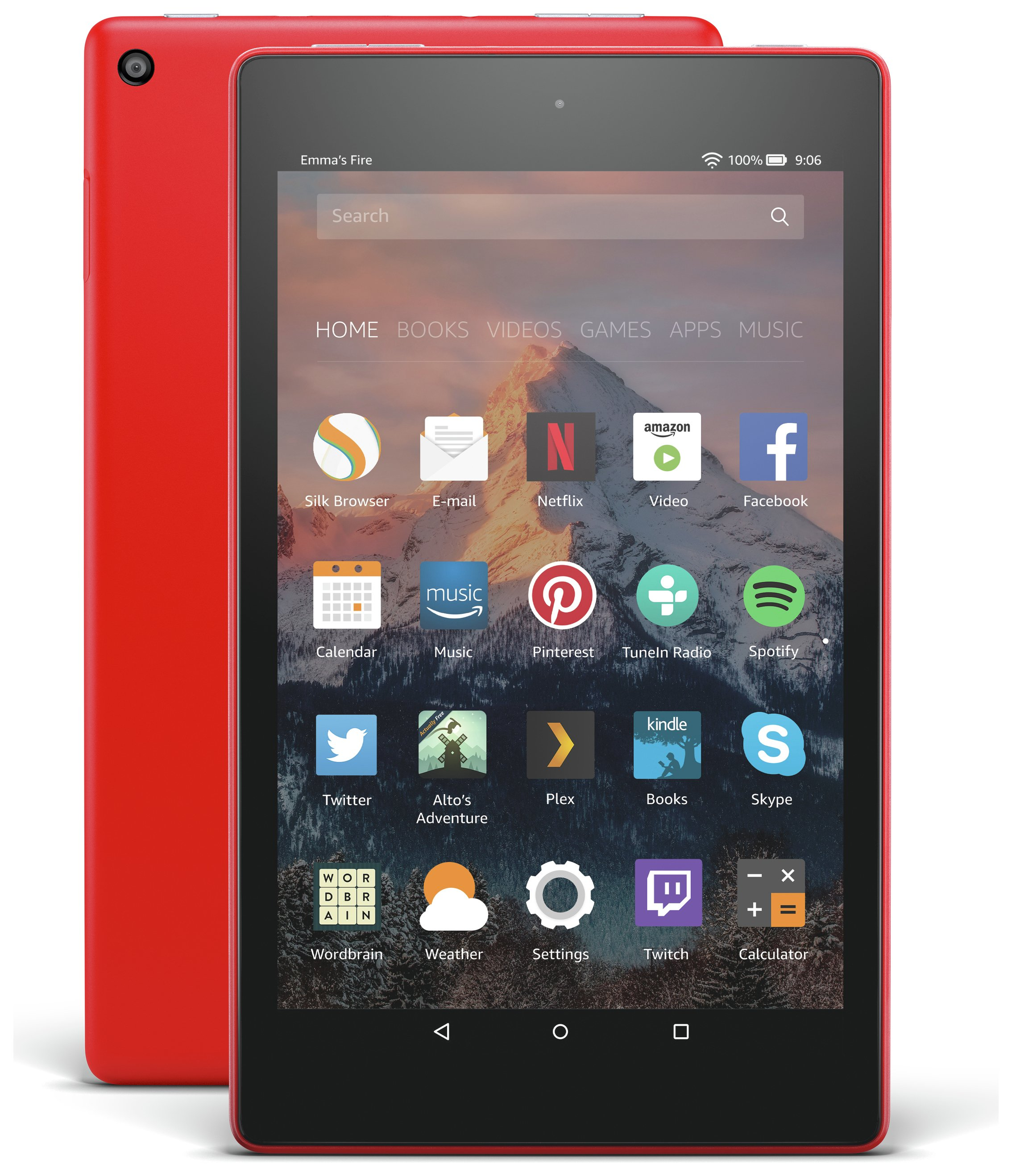 Compare retail prices of Amazon Fire 8 HD Alexa 8 Inch 16GB Tablet Punch Red to get the best deal online