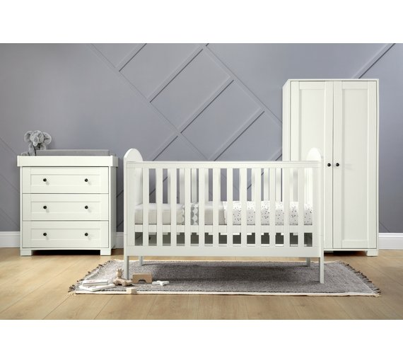 buy mamas papas harrow 3 piece set white nursery furniture