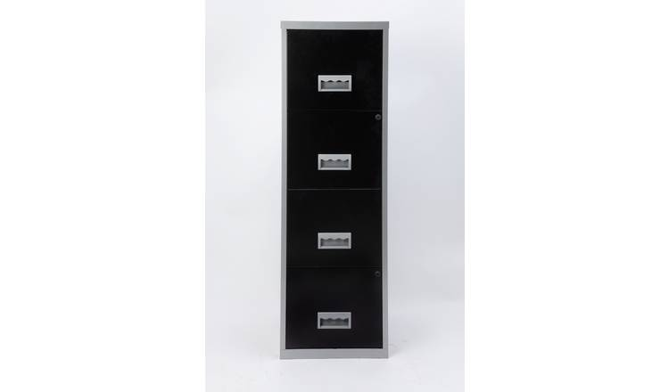 buy popular a7d57 f21bd Buy 4 Drawer A4 Metal Filing Cabinet | Filing cabinets and office storage |  Argos