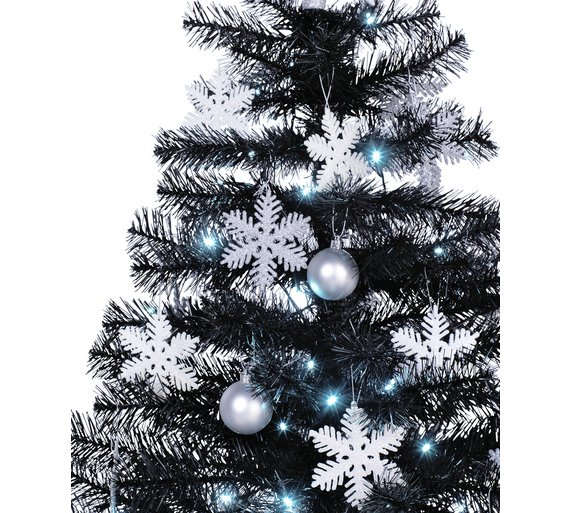 click to zoom - Black And Silver Christmas Tree