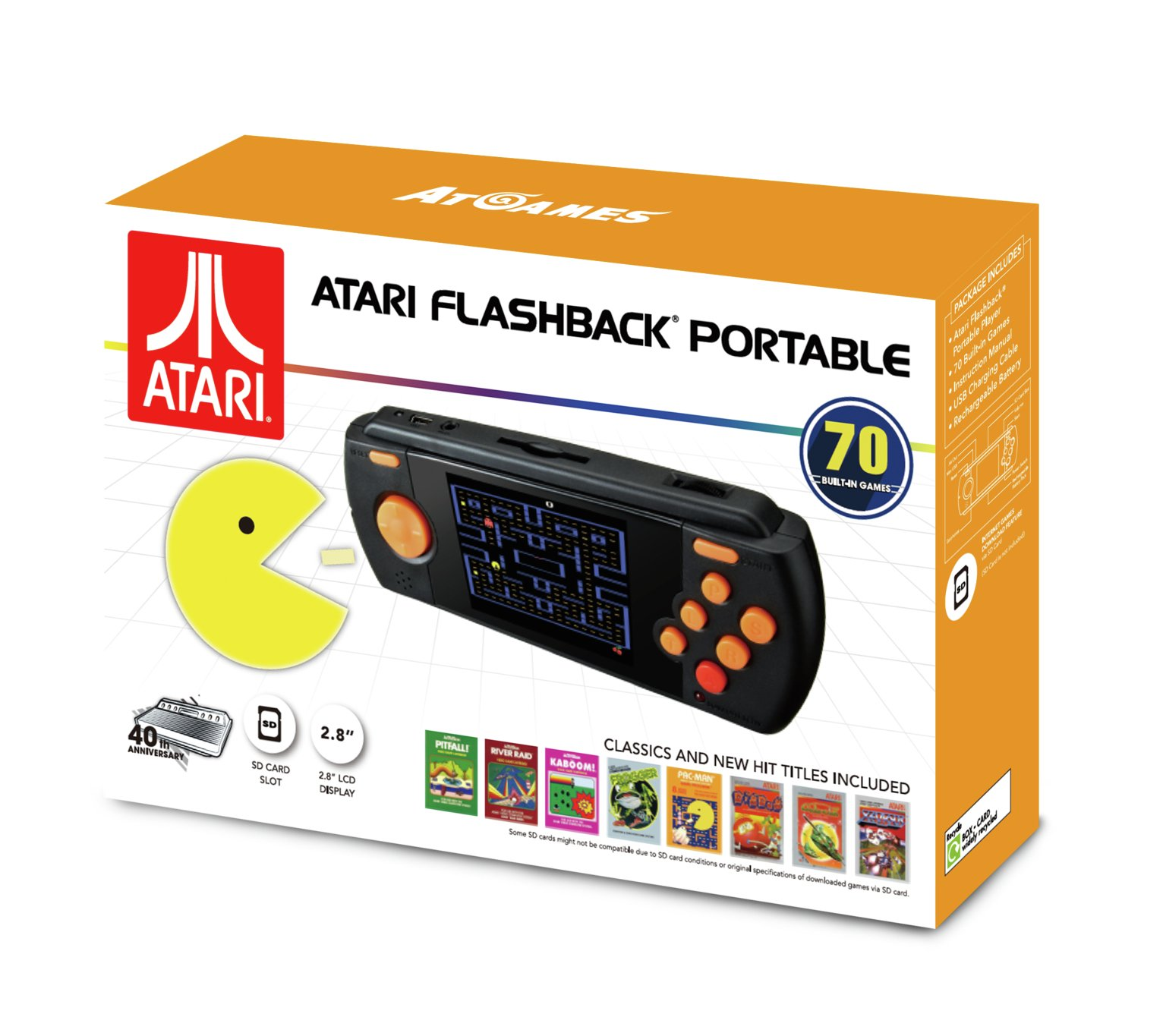 Image of Atari Portable Game Console with 70 Games