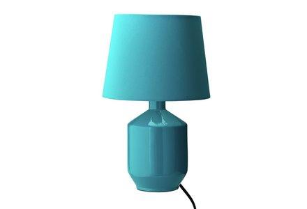 ColourMatch Ceramic Table Lamp - Teal.