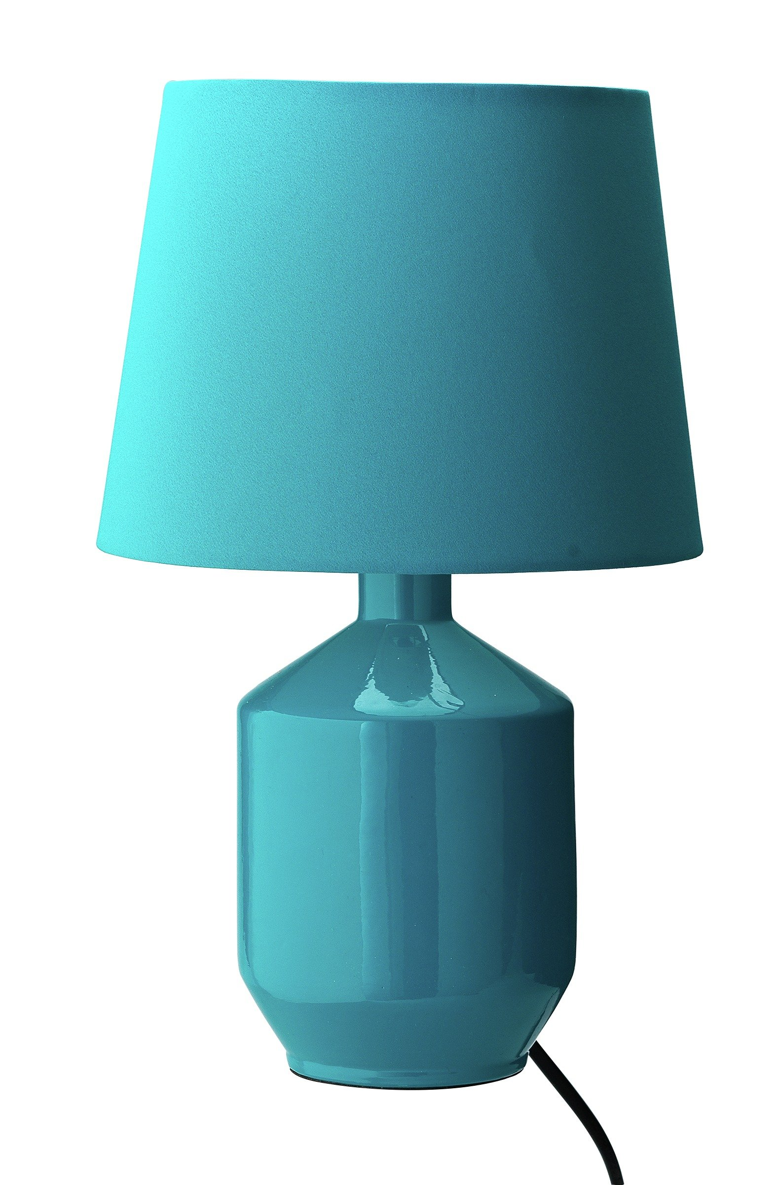 Colourmatch ceramic table lamp teal