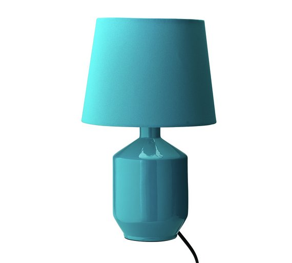 Buy colourmatch ceramic table lamp teal table lamps argos colourmatch ceramic table lamp teal mozeypictures Image collections