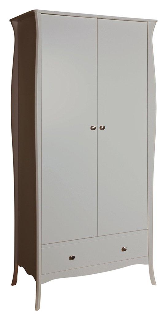 Image of Baroque 2 Door 1 Drawer Wardrobe - Grey