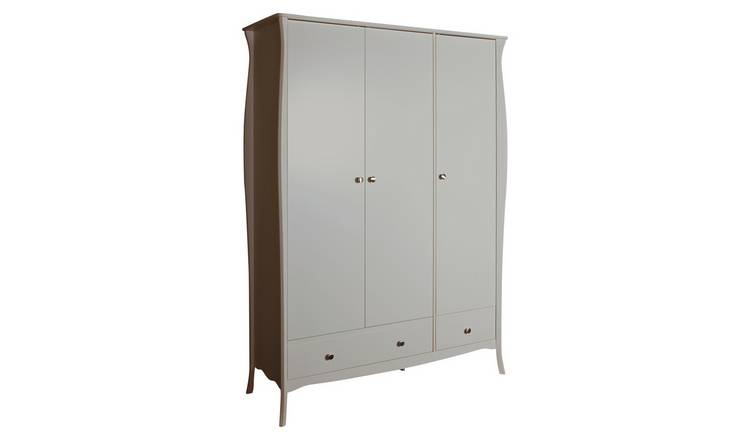 Amelie 3 Door 2 Drawer Wardrobe - Grey