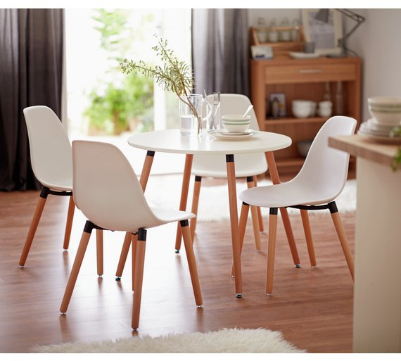 Click to zoom. Buy HOME Berlin Round Dining Table   4 Chairs   White at Argos co