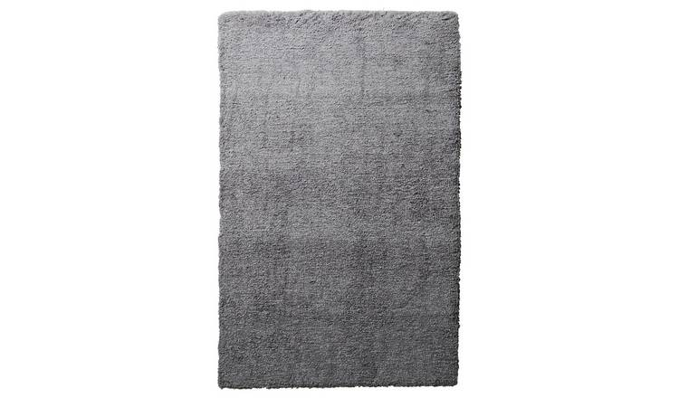 Argos Home Ombre Supersoft Shaggy Rug - 170x110cm - Grey