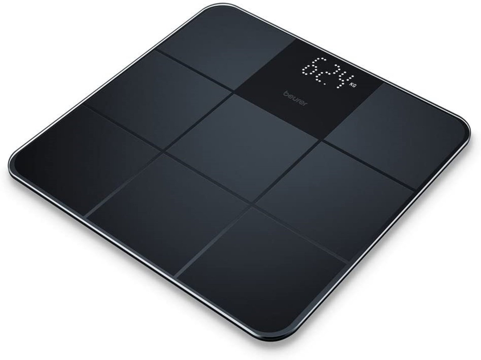 Beurer GS235 Personal Slim Glass Body Analyser Scale - Black