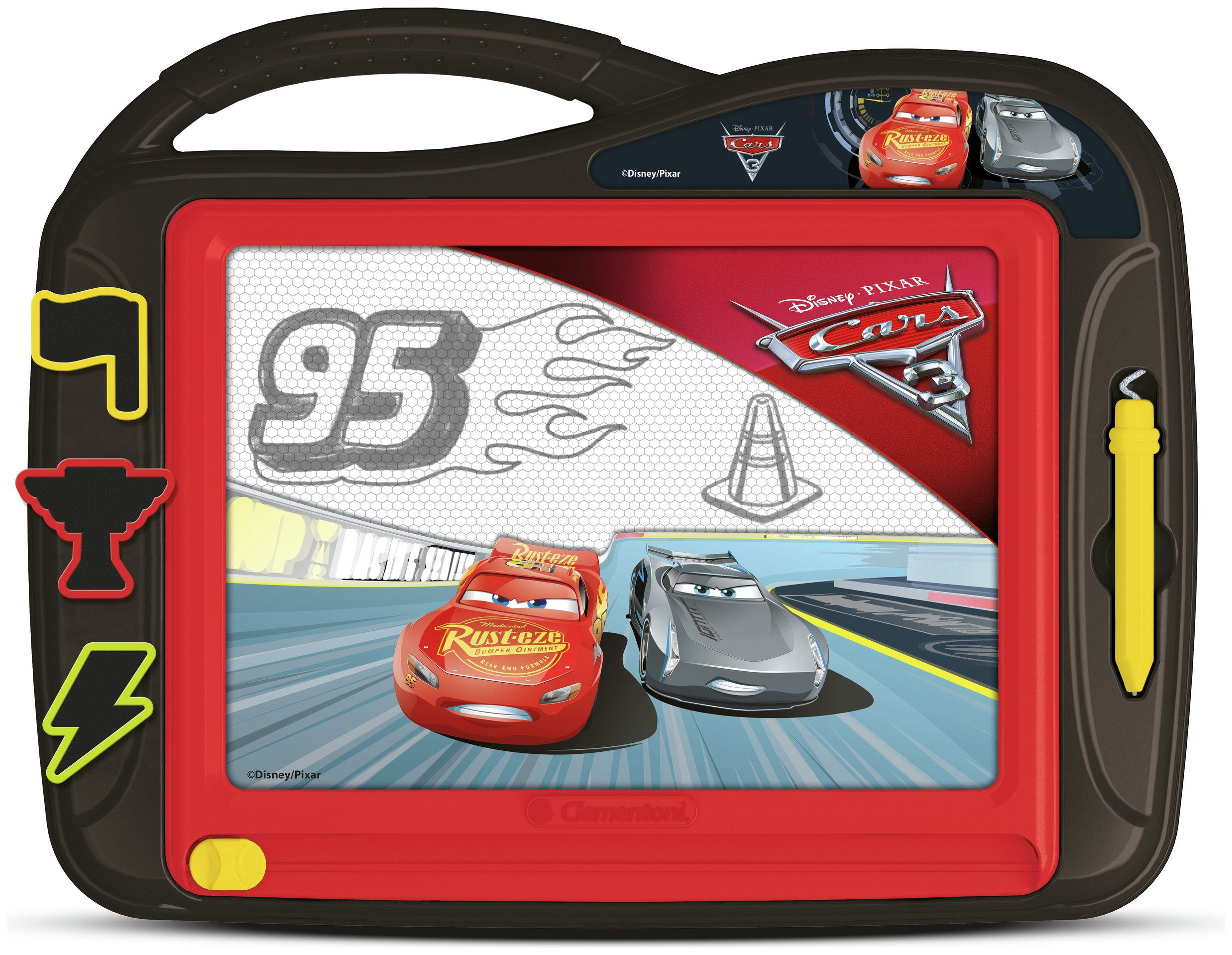Image of Clementoni Disney Cars 3 Magnetic Drawing Board