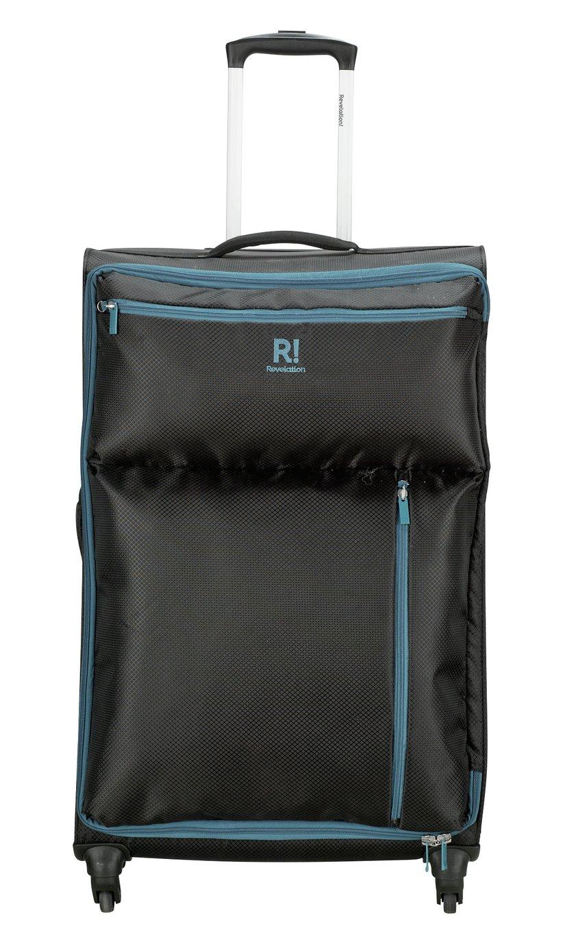 Buy Revelation! Weightless Large 4 Wheel Soft Suitcase - Black at ...