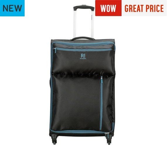 Buy Revelation! Weightless Large 4 Wheel Soft Suitcase - Black at ...