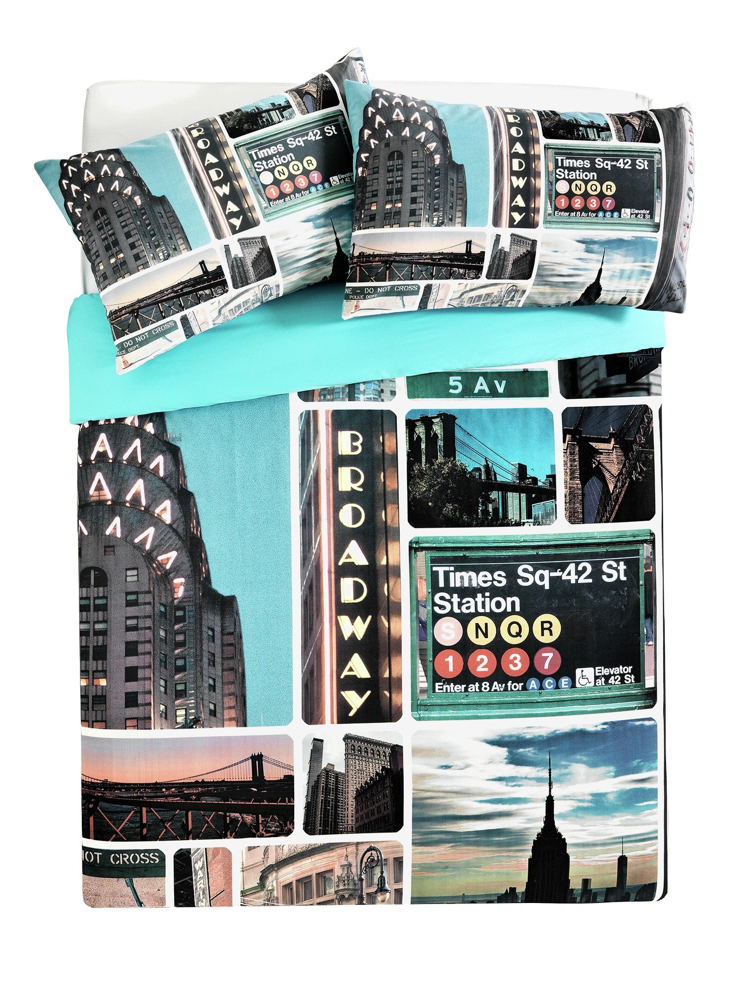 home ny signs bedding set  double