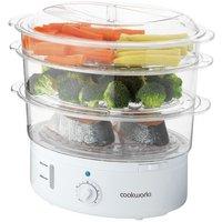 Cookworks 3 Bowl Steamer - White
