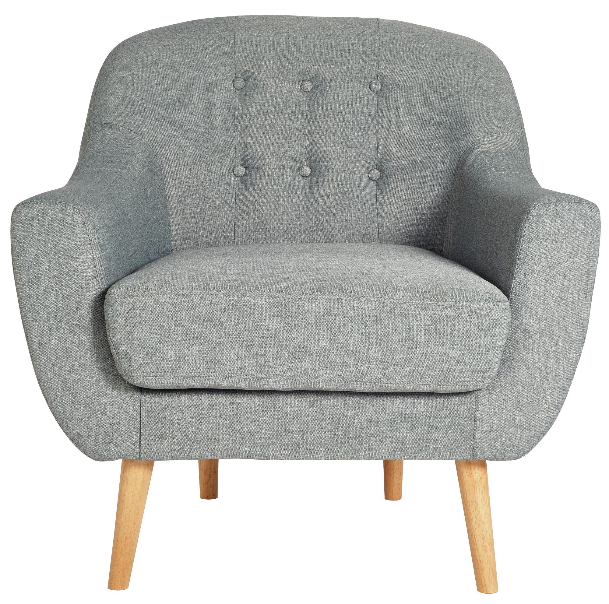 Hygena Lexie Fabric Chair   Light Grey