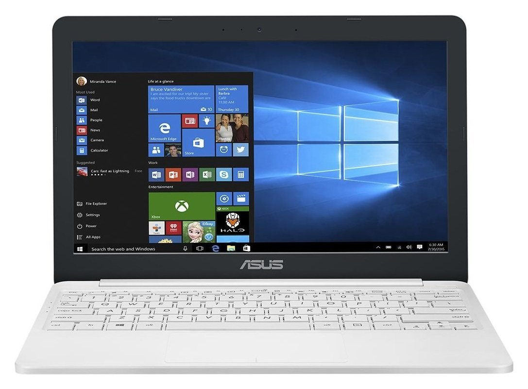 Image of Asus 11.6 Inch Celeron 2GB 32GB Laptop - White.
