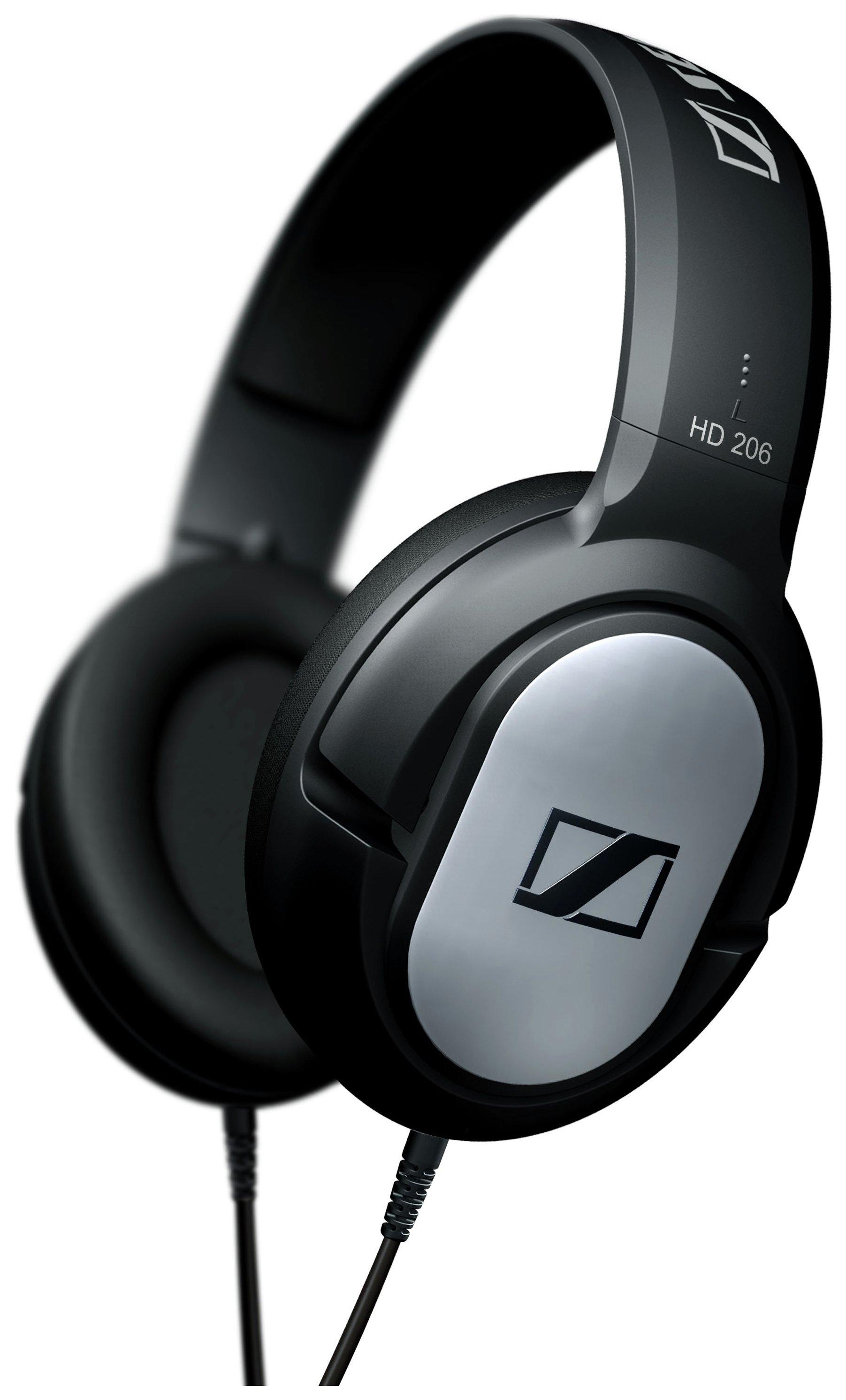 Sennheiser HD 206 Around Ear Headphones - Black