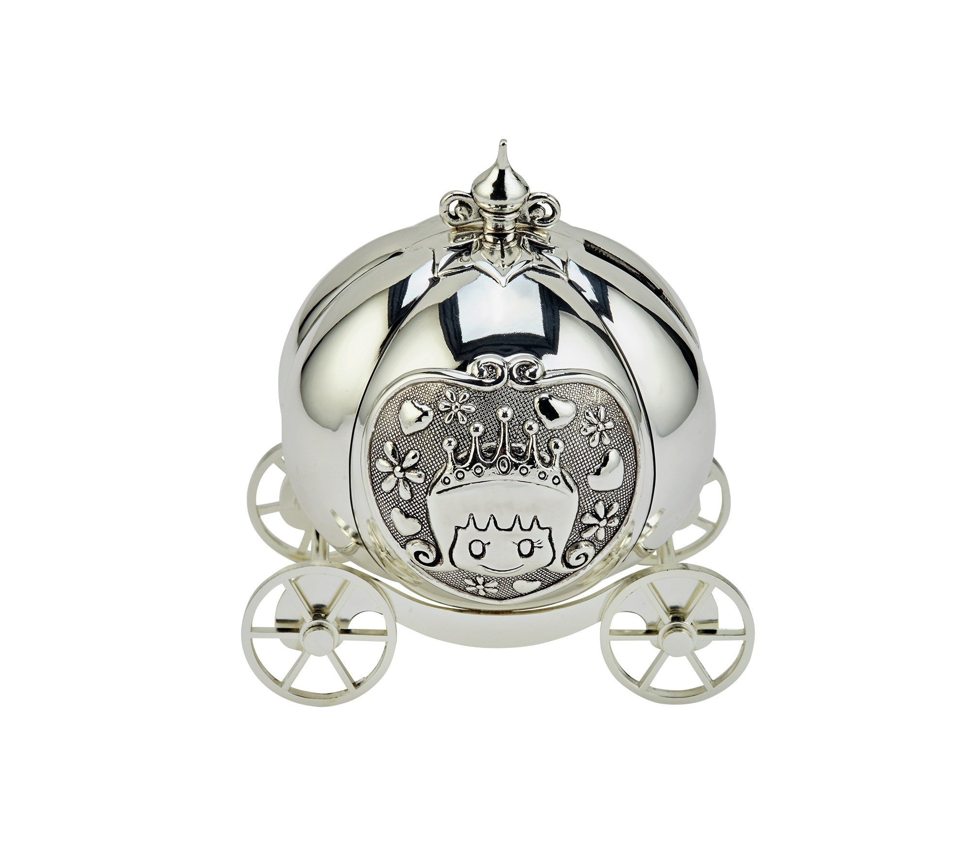 Bambino Silver Plated Fairytale Carriage Money Box.