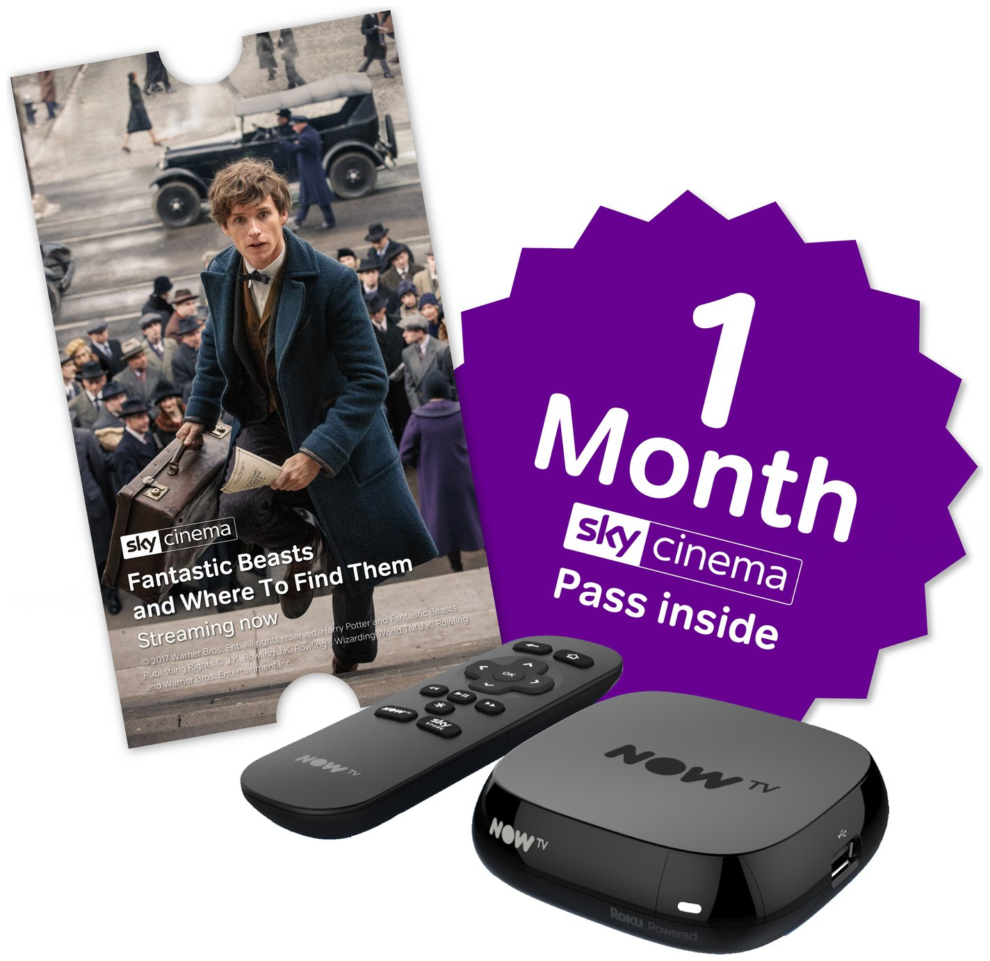 NOW TV Box with 1 Month Sky Cinema Pass