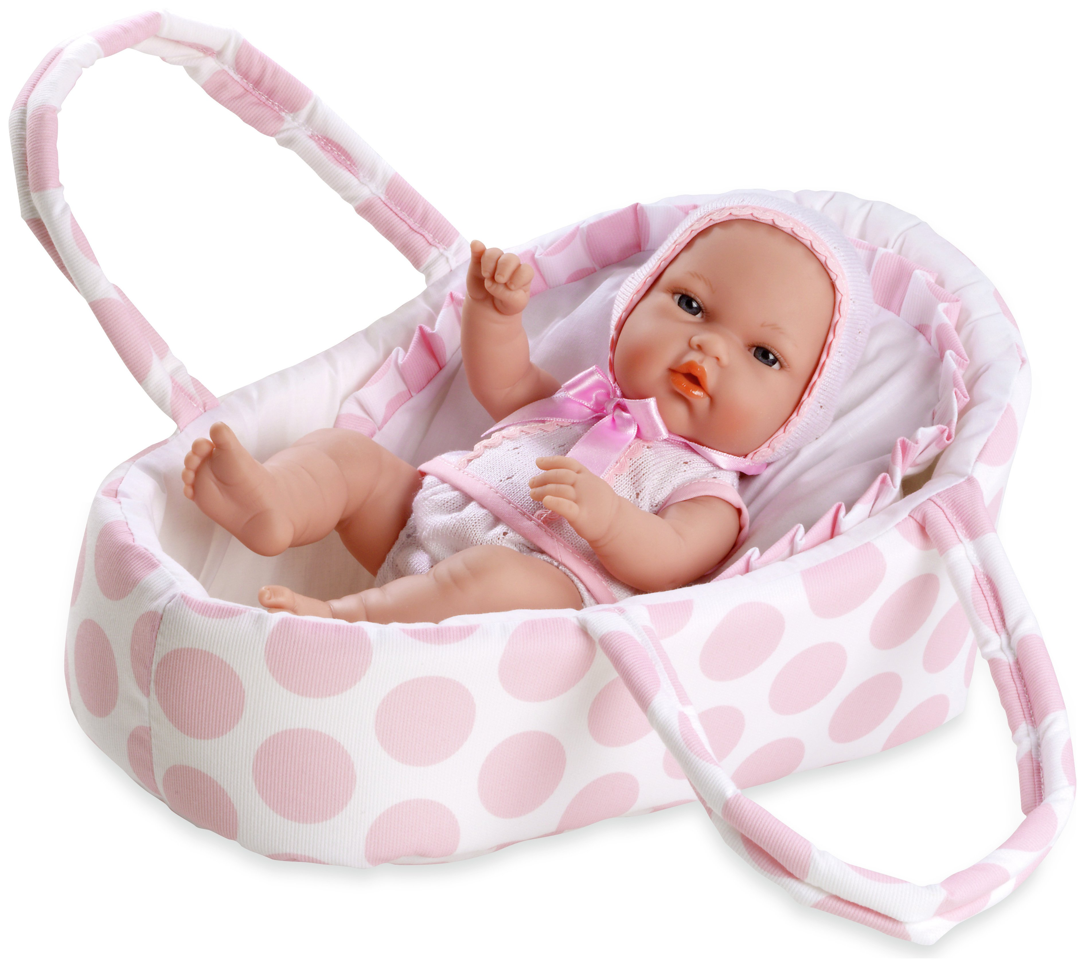 Image of Arias Elegance Baby Doll with Baby Carrier.