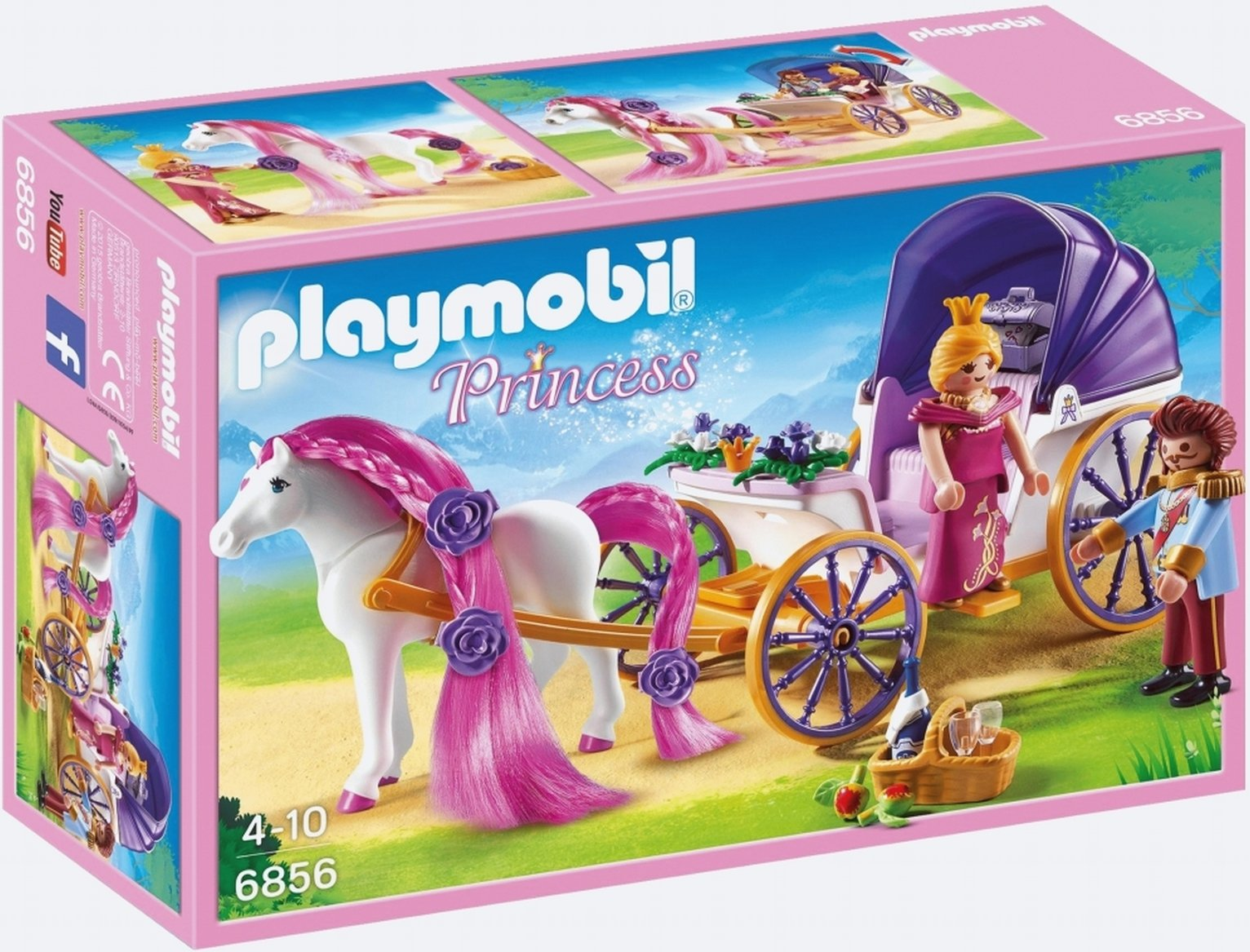Playmobil 6865 Princess Royal Couple With Carriage