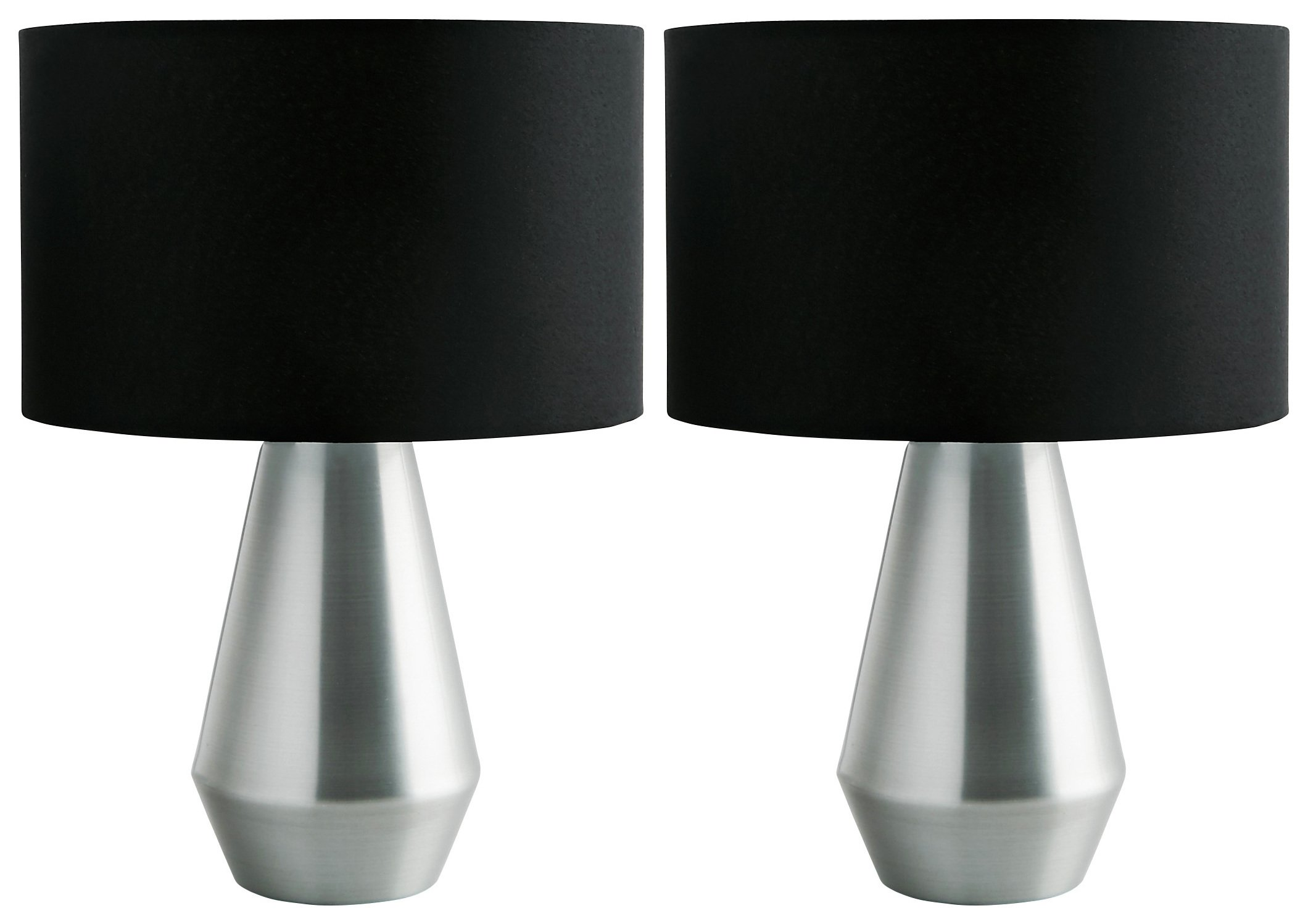 Black And Silver Table Lamps Cheapest Lighting Uk