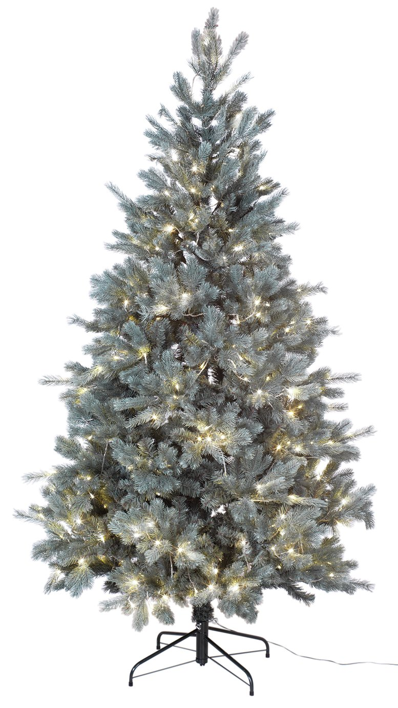 Collection - 7ft Pre-Lit Christmas Tree - Frosted Blue