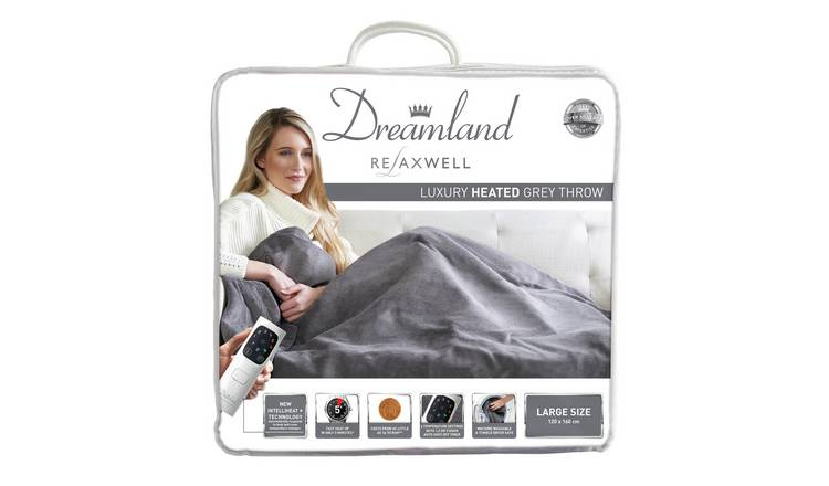 Buy Relaxwell By Dreamland Luxury Velvety Heated Throw