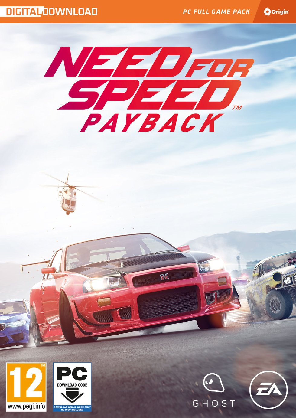 Need for Speed Payback PC Game Code in a Box