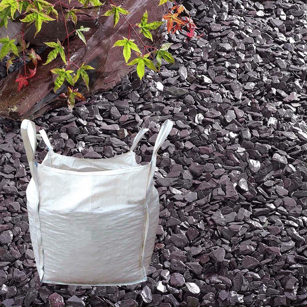 The Real Gravel Company Plum Slate Chippings - 20mm