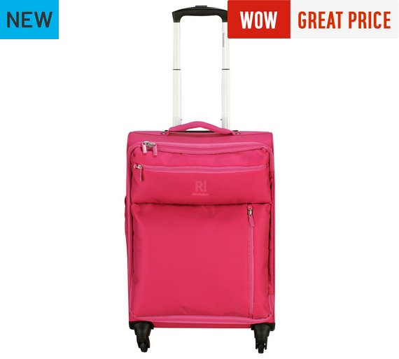 Buy Revelation! Weightless Medium 4 Wheel Soft Suitcase - Pink at ...