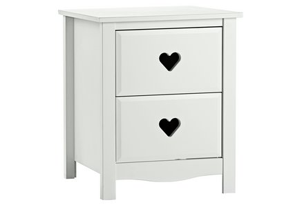 Collection New Mia Bedside Chest - White.