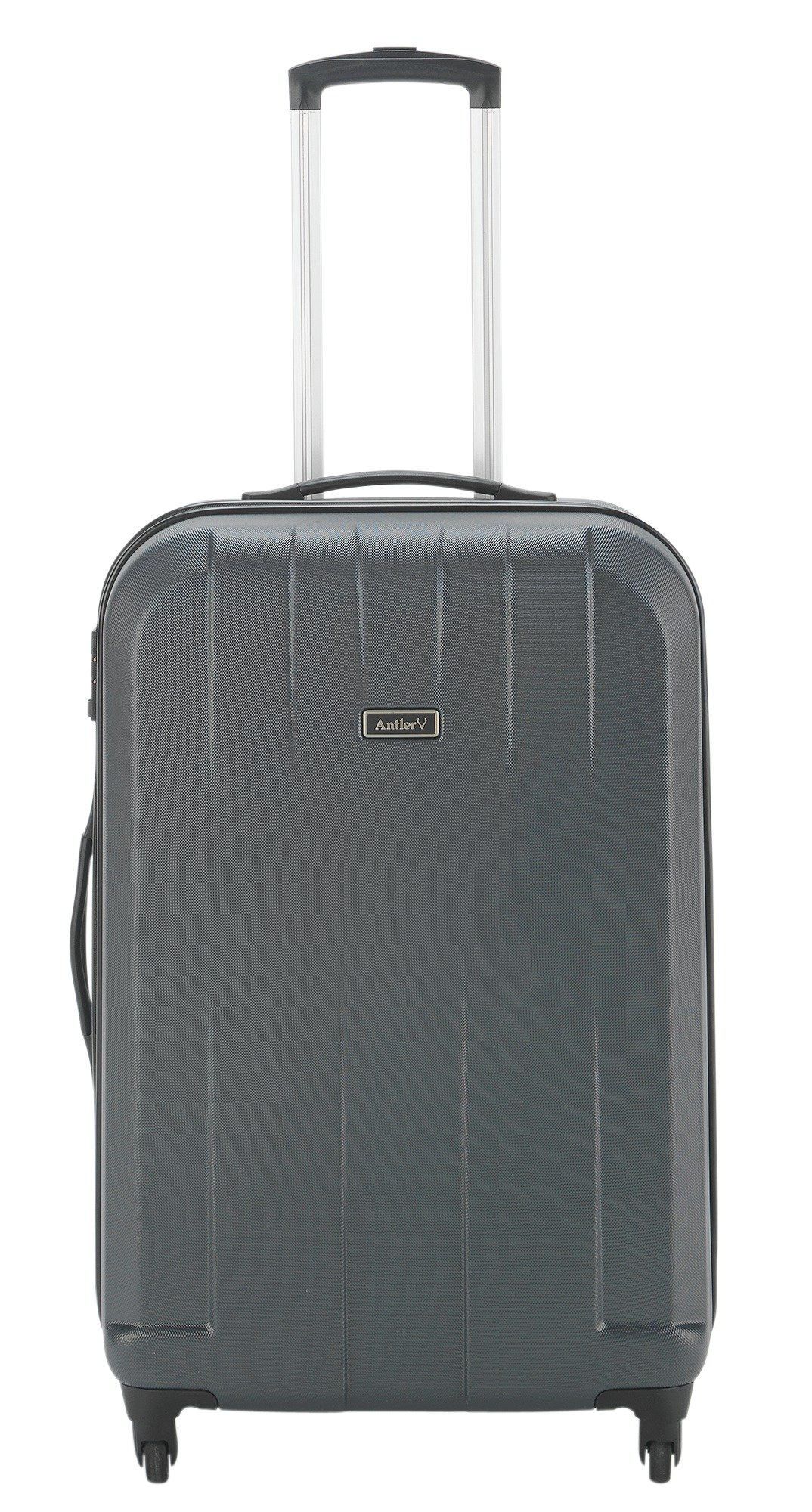 Image of Antler Quadrant Medium 4 Wheel Hard Suitcase - Black/Silver